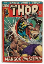 Bronze Age 1972 The Mighty Thor Comic 197 from Marvel Comics The Mangog  - $4.95
