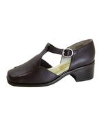 PEERAGE Sheba Women's Wide Width T-Strap Leather Shoes - $44.95