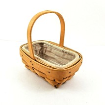 Longaberger Basket Parsley Booking 1999 Liner & Protector Signed by 3 Si... - $24.95
