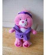 "Care Bears Pink In Robe & Headband 7.5"" tall PLush Stuffed Animal Toy - $5.76"