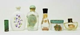 6 Vintage Perfume Moisturizer Lipstick Bottles Containers Gilda Audrey Avon - $19.79