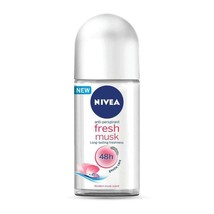 Nivea FRESH MUSK roll-on deodorant anti-perspirant 50ml-FREE SHIP - $9.41