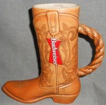 1994 Budweiser Cowboy Boot 24 Oz Beer Stein Hand Crafted Ceramarte - Brazil - $24.74