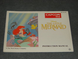 Nintendo NES: The Little Mermaid [Instruction Book Manual ONLY] NICE! - $8.00