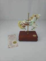"Heritage House Carousel Horse ""Alexandria"" Music Box Strangers In The Night Coa - $60.00"