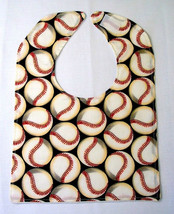 On Sale Minky Dot Baby Bib,Sport Baby Bib,  Baby Shower Gift Baseball - $4.99
