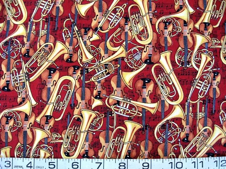 Music kaufman red instruments