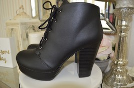 "Brand New! Soda 4inch ""Agenda"" Black Ankle Boots Size 7.5 & 8.5 Womens - $38.00"