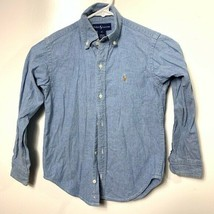 Ralph Lauren Button Down Shirt Blue denim kids boys size 6 - $19.80