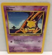 Abra 65/130 Pokemon Card Wizards TCG Original Base Set 2 NM Great Condition - $2.16
