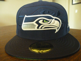 SEATTLE SEAHAWKS NEW ERA 59FIFTY 2016 ON FIELD SIDELINE BLUE FITTED HAT ... - $23.99