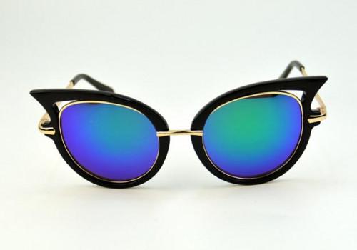 62efe12bf00b9 Retro Chic Cat Eye Mirror Sunglasses and 50 similar items