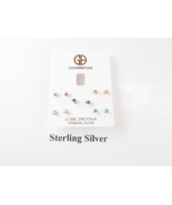 Giani Bernini 5 Pairs of Sterling Silver Cubic Zirconia Earrings - New - $34.65