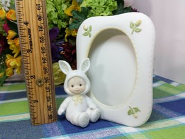 Enesco Morehead Holly Babes Easter baby in Bunny Suit Picture Frame - $14.60