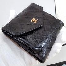 Auth Chanel Diamond Stitch Gold CC Caviar 2 in 1 Wallet Mini WOC Crossbody Bag image 10