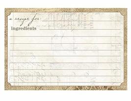 C.R. Gibson Rustic Blank Recipe Cards, 40pc, 4'' W x 6'' L - $7.47