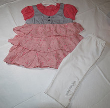 Calvin Klein 18M Baby girls 2 pc set Dress pants leggings 3702178-99 NWT*^ - $19.05