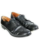 Prada Black Leather Oxford Shoes Dress Casual Split Toe Moccasin Lace Up... - $48.50