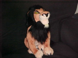 "13"" Scar Plush Toy With Patch On Foot Pad From The Lion King The Disney ... - $98.99"