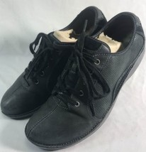 Clarks Wave 9.5 Black Leather Breathable Mesh Lace Up Walking Shoes - $49.00