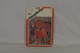 Simplicity 6192 Boys And Girls Costumes Strawberry, Tomato, Pumpkin, Wat... - $2.00