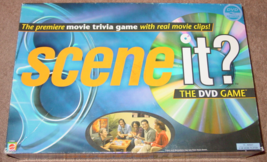 SCENE IT DVD GAME MOVIE TRIVIA MATTEL  2003 COMPLETE LIGHTLY PLAYED - $15.00