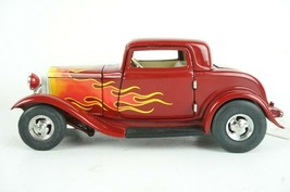 Franklin Mint 1/24 Scale 1932 Deuce Coupe Hot Rod Red w/ Flames - $46.72