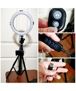"12"" LED Selfie Ring Studio Light w/ Wireless Remote Shutter - $49.49"