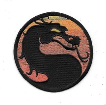 Mortal Kombat Video Game Dragon Logo Image Embroidered Patch NEW UNUSED - $7.84