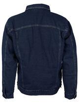 NYT Men's Classic Button Up Cotton Sherpa Trucker Denim Jean Jacket image 3