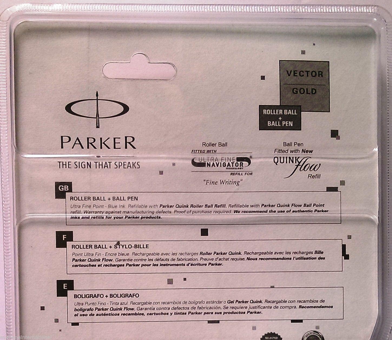 Parker Gift Set  Vector Gold  Roller Ball & Ball Pen  Gold Clip