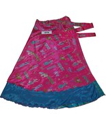 Indian Wrap Around Women Printed Art Silk Long Skirt Sale - AET8 - $4.89
