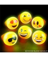 Jelly Emoji LED Light-UP Bright Flashing Emoji LED Rings Pack of 24 - $18.71