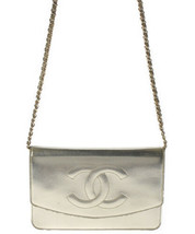 Auth CHANEL Chain Shoulder Bag Gold Wallet Matelasse Crossbody Flap Logo... - $1,320.66