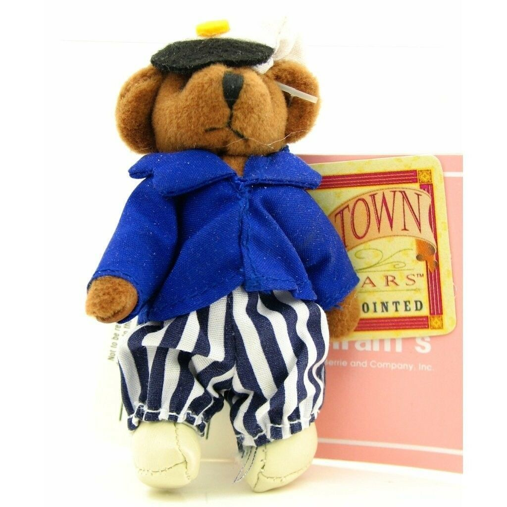 Primary image for RUSS BERRIE Tiny Town Miniature Jointed Plush Teddy Bear Nautical Sailor 3-1/2""
