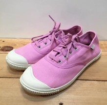 Keen 100% Vulcanized Footwear Women's Sneakers Size 4 Pink Canvas With Laces - $26.05