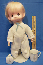 Precious Moments Jesus Loves Me Boy Doll 15 Inch Small Cup Clown Bud Va... - $14.10