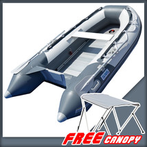 BRIS 8.2 ft Inflatable Boat Inflatable Pontoon Dinghy Raft Tender Canopy image 1