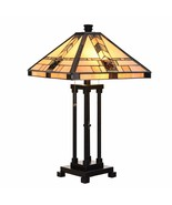 Cloud Mountain Tiffany Style Table Lamp Home Office Décor Mission Design... - $99.99