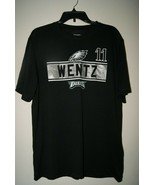 NFL TEAM Apparel Philadelphia EAGLES Men's TShirt 11 Wentz - Black Sz L - $18.86