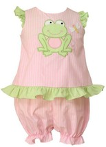 Anavini Baby Girls Top & Short Outfit Pink Size 3 Months Sleeveless Ruff... - $27.12