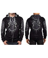 BLACK PANTHER LOGO HOODIE ZIPPER FULLPRINT MEN - $48.80