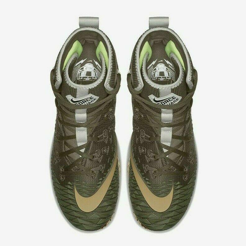 Nike Force Savage Elite TD Mens Football Cleat Olive Green Gold AH6424 271 image 4