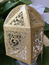 100pcs Wedding Favor Boxes,Laser Cut Gift Packaging Boxes,Wedding Favors - $48.00