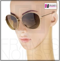 OLIVER PEOPLES BLONDELL 1102 Gold Titanium Brown Beige Polarized Sunglass 1102ST image 2