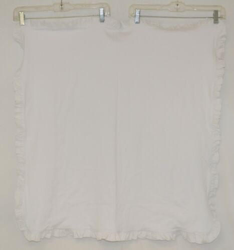 Blanks Boutique Infant White Ruffle Baby Blanket Thirty One And Half Inches