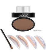 1pcs Eyes Makeup Brow Stamp Seal Eyebrow Powder Waterproof Grey Brown Ey... - $12.00