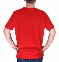 BRAND NEW LACOSTE LOGO MEN'S PREMIUM COTTON CREW NECK SHIRT T-SHIRT TEE RED image 3