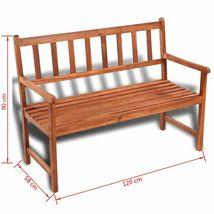 vidaXL Acacia Wood Classic Bench Outdoor Garden Chair Furniture Porch Outdoor image 5