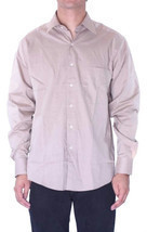 15 L NWT Joseph Abboud Solid Beige Fine Line Button Down Dress Shirt CH9... - $82.12 CAD